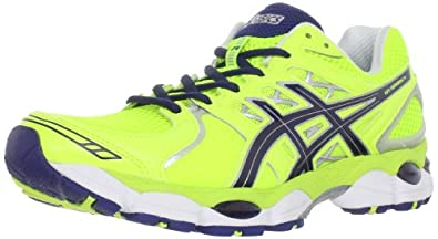 ASICS Men's GEL-Nimbus 14 Running Shoe,Neon Yellow/Navy/Lightning,11.5 M US
