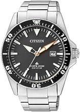 Comprar Citizen Promaster Sea Eco-Drive Diver BN0100-51E - Reloj analógico de cuarzo para hombre, correa de acero inoxidable color plateado