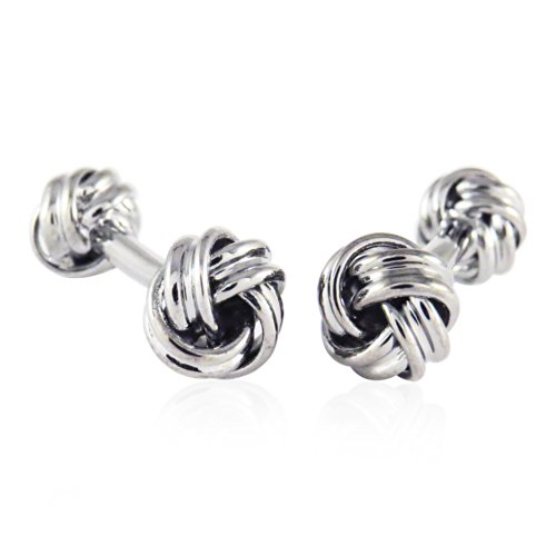 Cuff-Daddy Double Knot Gunmetal Tone Cufflinks