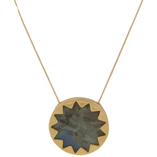 House of Harlow 1960 - Labradorite Sunburst Pendant Necklace gold-plated