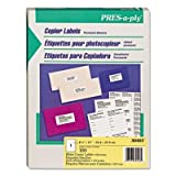 Avery PRES-a-ply White Copier Labels