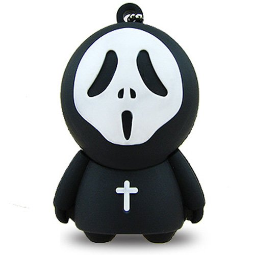 No36300060016 CHIAVETTA USB 16GB FLASH PENDRIVE ORRORE MR.SCARY NERO 3D FIGURA