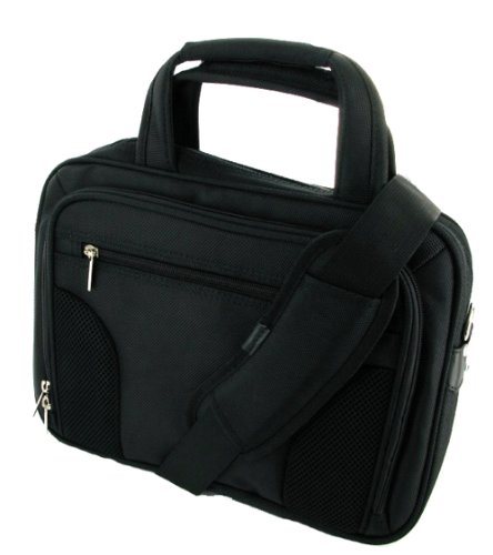 rooCASE 10-Inch 11.6-Inch Netbook / iPad Carrying Case (Deluxe Bag - Black)