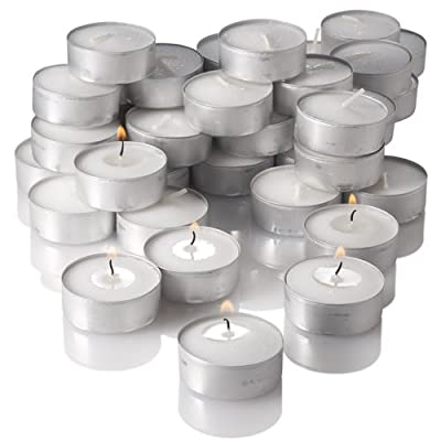 Cheapest Richland Unscented Tealight Candles, White, Set of 125 from Quick Candles - Free Shipping Available