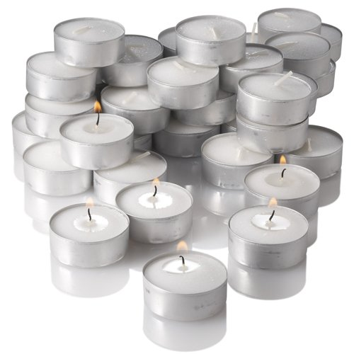 Tealight Candles White Unscented Set of 125