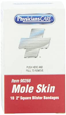 PhysiciansCare by First Aid Only Mole Skin Xpress First Aid Refill, 2 Inches X 2 Inches, 90266, 10 Count by Physicianscare