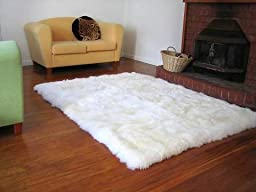 Faux Fur Rug Sheepskin White Area Rug 3x5 Flokati Shaggy Rug