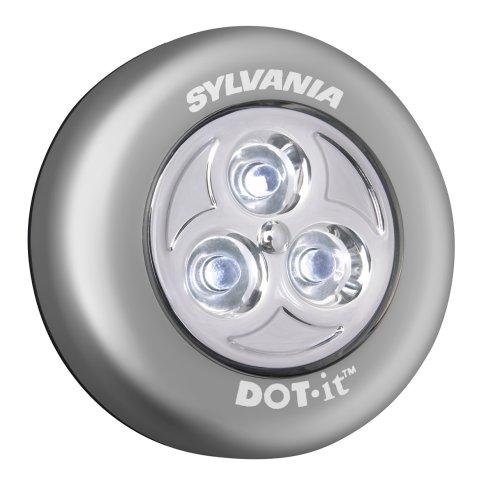 Sylvania Dot-It Silver Self-Adhesive Bright White Silver Led Light