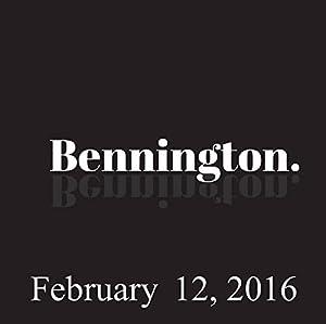 Bennington, February 12, 2016 Radio/TV Program