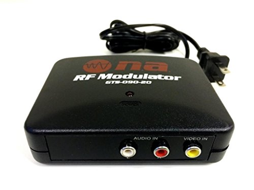 Read About RF Modulator TV Switch Audio Video RCA Ant Input to F Type Coax Output Converter