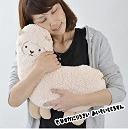 Lomoy Cream white Color Llama Alpaca Fluffy Cute Furnishing Plush Stuffed Toy