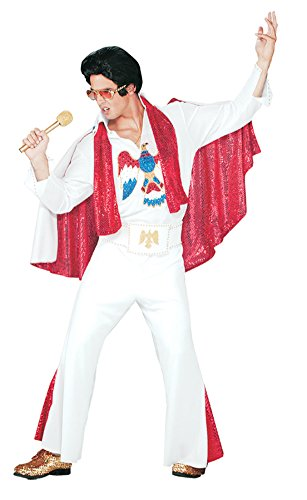 Pony Express Mens Deluxe Jumpsuit Outfit Elvis Presley Licensed Sequins Costume
