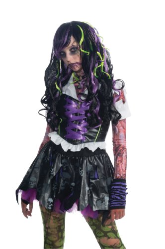 Rubie's Costume Zombie Inspired Long Curly Hair Wig