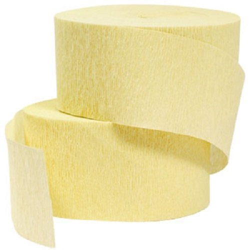 Yellow Crepe Paper Streamers 2 Rolls 145 Foot Total