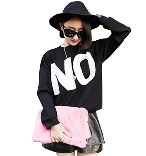 Mostly do to print Yes No trainer men and women and for logo letters long-sleeved engaging couple matching room and party scene No (XXL)