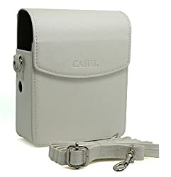 CAIUL PU Leather Case for Fujifilm Instax Share Smartphone Printer Sp-1, White