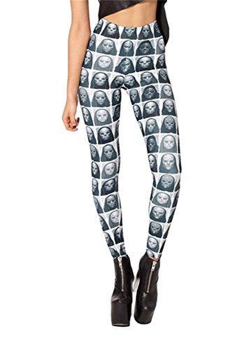 Women'S Fashion Digital Print Mask Pattern Sexy Leggings