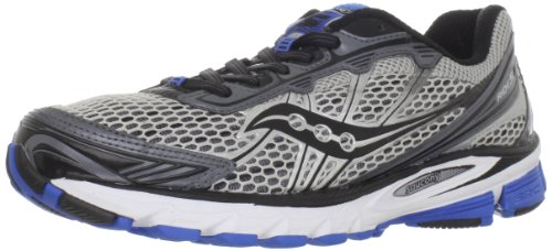 Saucony Men's Progrid Ride 5 Running Shoe,Silver/Grey/Blue,12 M US