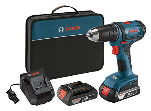 Bosch DDB181-02 18-Volt Lithium-Ion 1/2-Inch Compact Tough Drill/Driver Kit with 2 Batteries, Charger and Contractor Bag (Drill Lithium Ion compare prices)