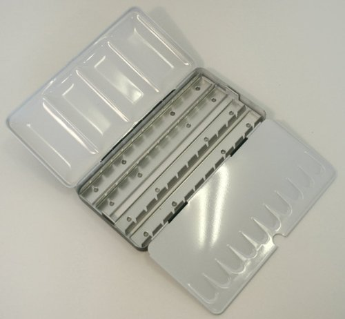 Lightweight Metal Tin Watercolour Box 36 Half Pan/18 Full Pan