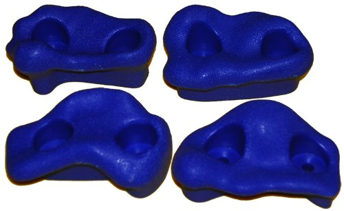 Rock Pegs Small For Indoor & Outdoor Rock Wall To Get Kids Exercise Climbing To Strength Upper Body Known As Rock Hold - Rock Climbing Wall (Blue) front-1021362