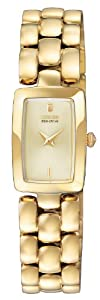 Citizen Jolie Women's Quartz Watch with White Dial Analogue Display and Gold Stainless Steel Plated Bracelet EG2902-53P
