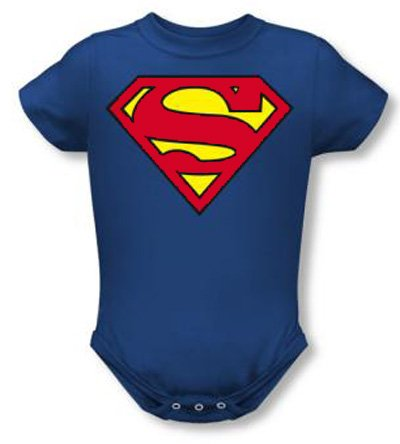 Superman Romper Classic Logo Infant Baby Creeper
