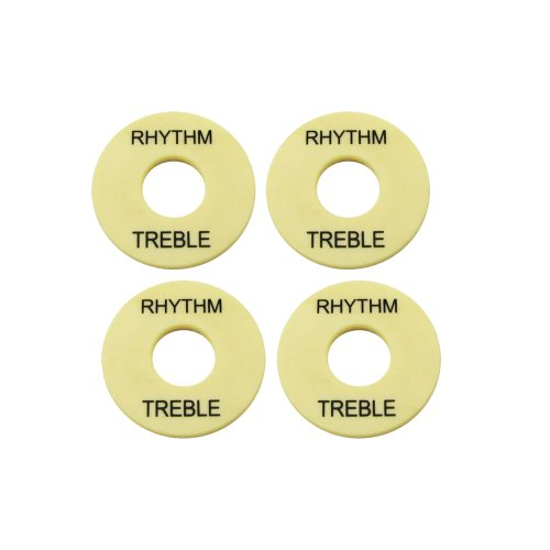 Musiclily Plastic Pickup Selector Plates Toggle Marker Switch Washer Treble Rhythm Ring For