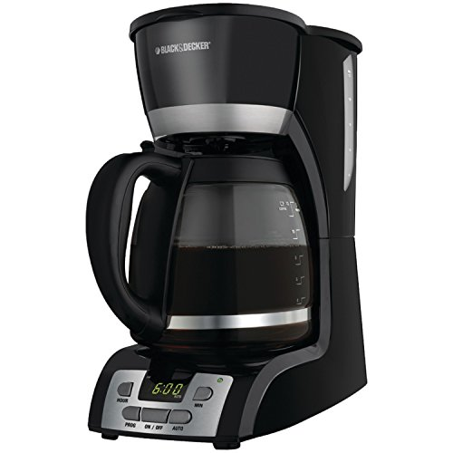 Black & Decker DCM2160B 12-Cup Programmable Coffeemaker, Black