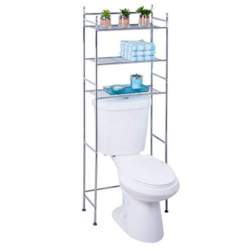 For Sale! Honey-Can-Do BTH-05079 3-Tier Metal Bathroom Shelf Space Saver, 9.45 x 22.83 x 59.84, Chr...