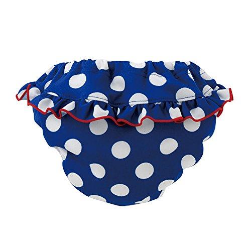 (チャックル) chuckle *ベビースイム*ネイビー水玉フリル水遊び用おむつパンツ ブルー 100cm M4014-100-31