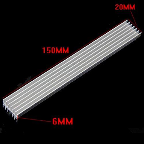 150X20X6Mm Long Heatsink Aluminum Heat Sink For Led Power Amplifier Pcb