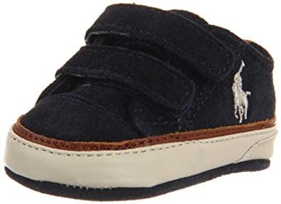 Ralph Lauren Layette Clayton Low EZ Sneaker (Infant/Toddler),Navy,4 M US Toddler