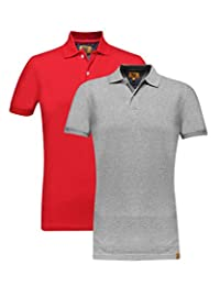 Campus Sutra Men Polo Neck T-Shirt Combo Of 2