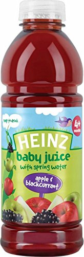 Heinz Baby Juice With Spring Water 4Mth+ Apple & Blackcurrant (750Ml) front-550872