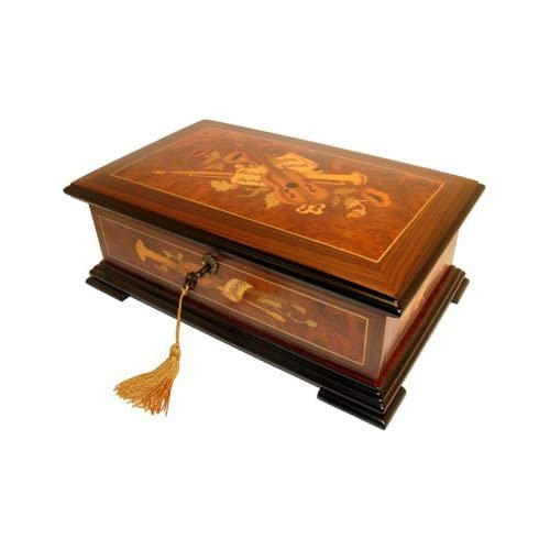 Beautiful High Quality Le Ore Music Box with Swiss 36 Note Movement and Instrumental Inlay
