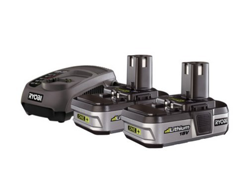 Ryobi BLK18152 2x18V 1.4Ah Li-Ion Batteries with Super Charger
