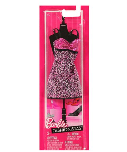 "Barbie Fashionistas ""Chic Shine"" Outfit - pink/black, one size by Mattel"