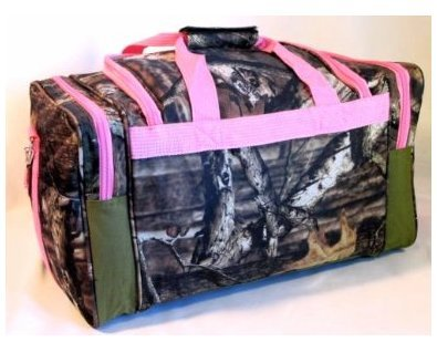 Why Should You Buy Explorer Tactical Pink Mossy Oak Camouflage Sport Duffle Luggage Bag, 20-Inch