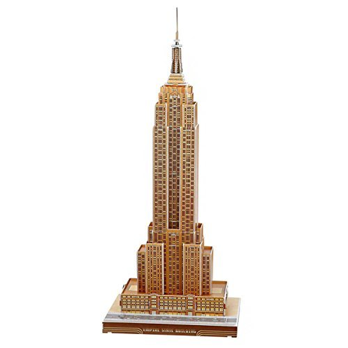 3D Jigsaw Puzzle - Empire States Building , U.S.A : Model Parts 55pcs