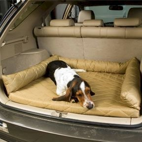 Snoozer Pet Dog Cat Puppy Car Cargo Suv Trunk Van Seat Water Resistant Area Protector Backseat Cover And Bedblack Quilt front-1063980