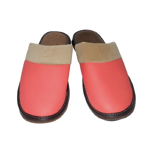 Image of Womens Open Back Lounge / House Slippers with Leather Toe and Suede Sole - Size: US:7 EU:38 UK:6.5 (B0051EKFWS)