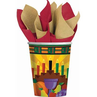 Kwanzaa Paper Cups 8ct - 1