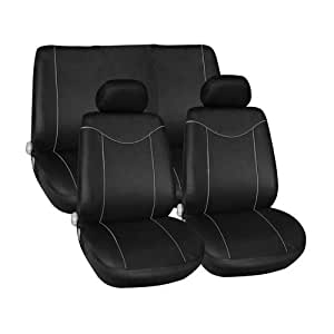 YWS 8pc Black Universal Car Seat Cover & Protector Set