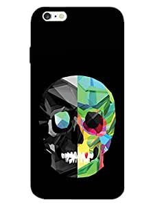 Skull - Colorful - Hard Back Case Cover for Apple iPhone 6 - Superior Matte Finish - HD Printed Cases and Covers