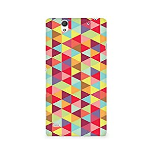 Motivatebox- Colorful Hex Premium Printed Case For Sony Xperia C4 -Matte Polycarbonate 3D Hard case Mobile Cell Phone Protective BACK CASE COVER. Hard Shockproof Scratch-