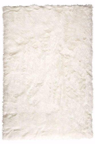 """Faux Sheepskin Area Rug, 2'6""""X8' RUNNER, WHITE"""