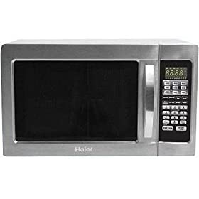 Haier MWM10100GC Stainless 1.0-Cu.Ft. Microwave with Grill