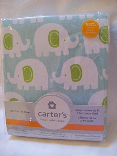 Carter's Fitted Sheet, Elephant /Turquoise - 1