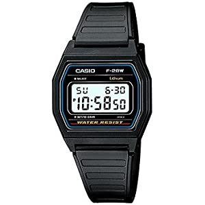 CASIO F28W-1 Casual Digital Watch with Black Resin Band